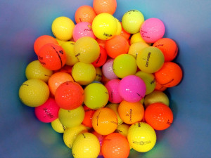 50 Mixed Colour Golf Balls
