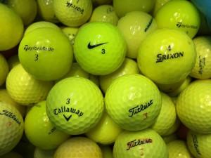 yellow golf balls